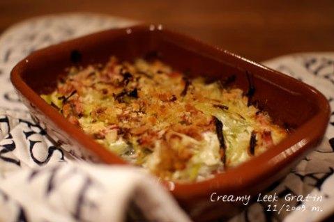leek cream gratin