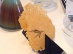 お通し1: パルミジャーノ薄焼き煎餅とローズマリー